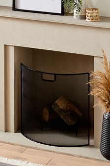 Black Wire Fire Screen
