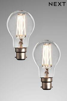 2 Pack BC 6W LED GLS Bulbs