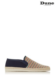 Dune London Fitzz Multi Fabric Stripe Raffia Espadrilles
