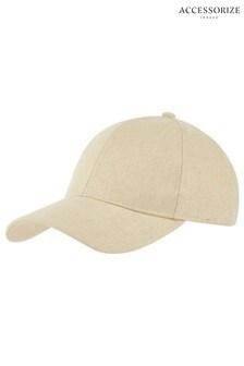 Accessorize Natural Linen Baseball Cap