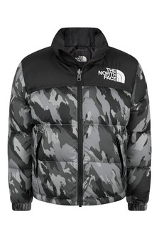 Boys Grey Camo Padded Jacket