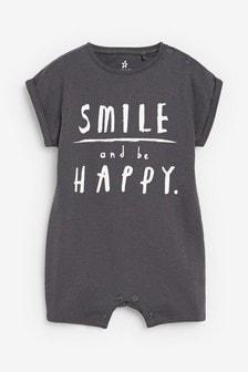 Smile Slogan Romper (0mths-3yrs)