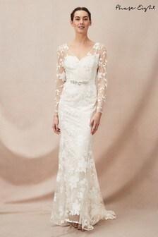Phase Eight Neutral Saffron Lace Bridal Dress