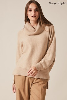 Phase Eight Neutral Palmer Soft Cowl Jumper