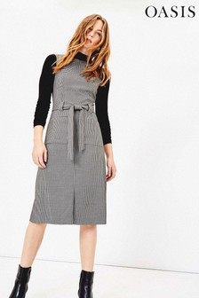 Oasis Natural Dogtooth Shift Dress