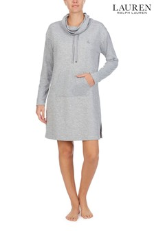 Lauren Grey Quilted Cable Lounger Pyjamas