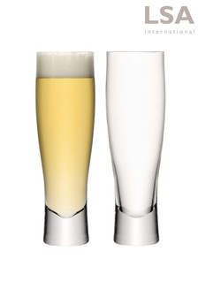 Set of 2 Bar Lager Glasses by LSA International