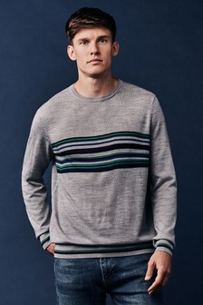 Crew Clothing Grey Crake Crew Neck Jumper