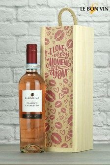 Love Every Moment Bardolino Rose Wine Gift by Le Bon Vin