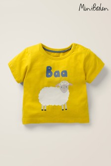 Boden Yellow Animal Logo T-Shirt