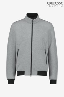 Geox Mens Sile Grey Bomber Jacket