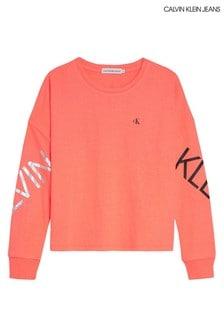 Calvin Klein Pink Hero Logo Long Sleeve T-Shirt