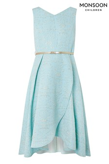 Monsoon Blue Katerina Jacquard Prom Dress