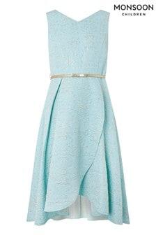 Monsoon Blue Katerina Jacquard Prom Dress