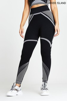 River Island Black Active Seamless Leggings