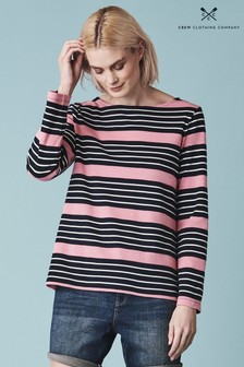 Crew Clothing Company Red Ultimate Breton Top