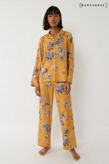 Warehouse Yellow Floral Pyjama Bottoms