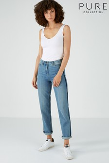 Pure Collection Blue Montpellier Slim Boyfriend Jeans