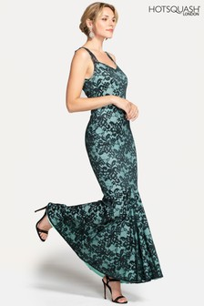 HotSquash Green Sweetheart Neckline Lace Maxi Dress
