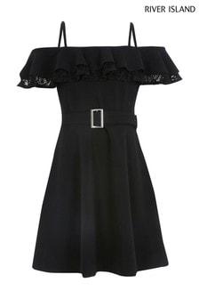 River Island Black Lace Maisie Dress