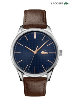 Lacoste Brown Leather Vienna Watch