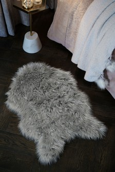 Faux Fur Metallic Rug