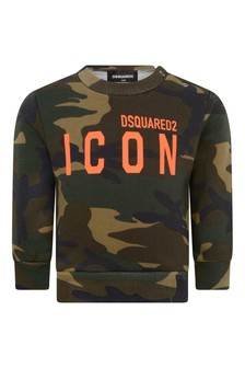 Baby Green Cotton Camouflage Sweater