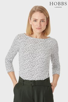 Hobbs White Rebecca Ruched Top