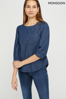 Monsoon Eboni Denim Blouse
