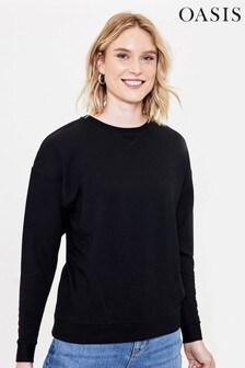 Oasis Black Animal Slogan Sweater
