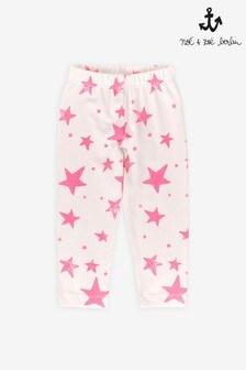 Noé & Zoë Neon Pink Stars Leggings