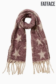 FatFace Purple Star Bouclé Scarf