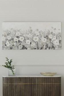 Floral Embellished Canvas