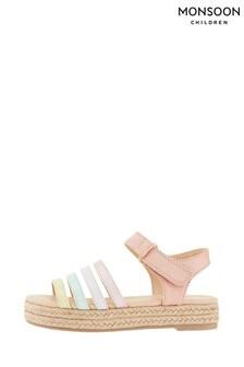 Monsoon Multi Rainbow Espadrille Sandals