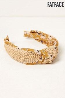 FatFace Yellow Floral Straw Headband
