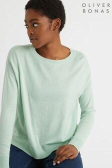 Oliver Bonas Mimi Mint Knitted Jumper