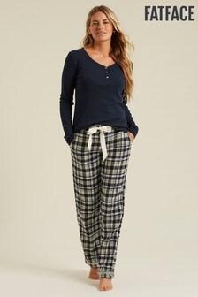 FatFace Green Star Jacquard Classic Pyjamas