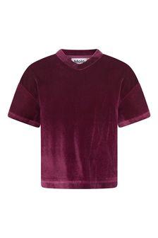 Girls Red Velour T-Shirt