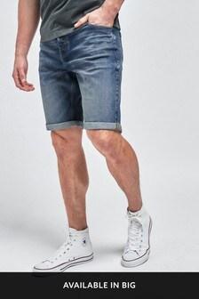 Vintage Wash Denim Shorts
