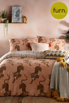 Tibetan Tiger Duvet Cover and Pillowcase Set by Furn