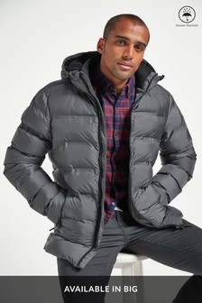 Shower Resistant Heat Seal Puffer Jacket With Fleece Lining