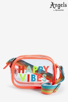 Angels by Accessorize Orange Happy Vibes Jelly Across Body Bag