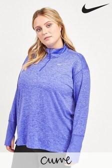 Nike Curve Blue Element 1/2 Zip Top