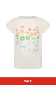 Bonpoint Baby Girls Cream Cotton T-Shirt