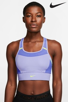 Nike Swoosh Lilac Pocket Sports Bra
