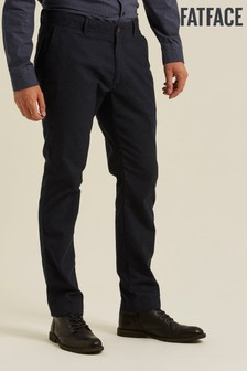 FatFace Blue Charlton Wool Blend Chinos