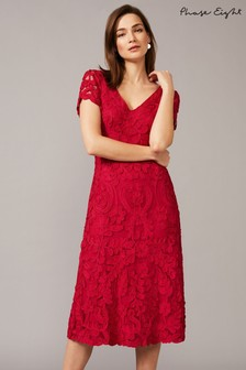 Phase Eight Pink Blossom Tapework Dress