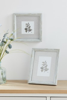 Wood Effect Botanical Frame