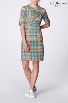 L.K.Bennett Cream Bonnie Tweed Dress