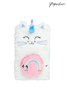 Paperchase Caticorn A5 Fluffy Notebook